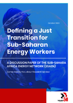 Defining a just transition for Sub-Saharan energy workers